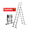 TELESCOPIC A-STEP LADDER TELESTEPS LADDER