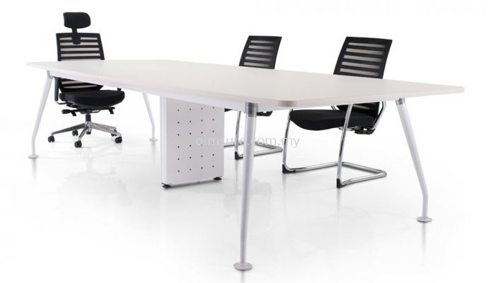 Rectangular conference table with ixia leg & riser box