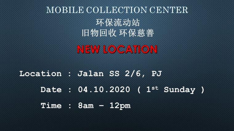 Here we announce *New Location for Mobile Collection*