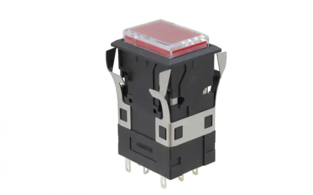 Omron A3P Large Rectangular-bodied Lighted Pushbutton Switches