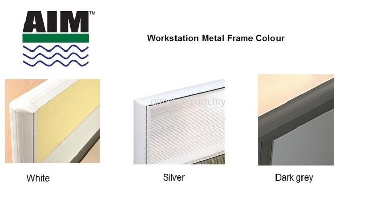 Workstation frame colour White,Silver,Dark Grey
