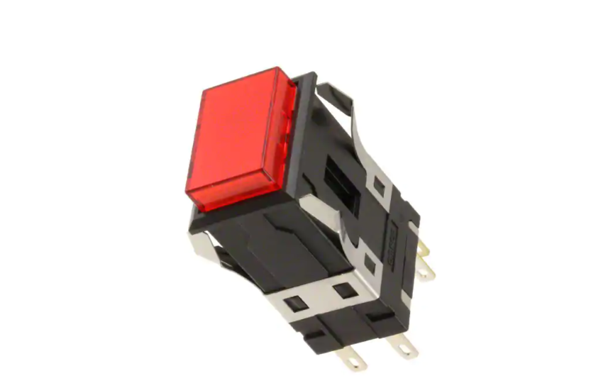Omron A3S (Super Luminosity Type) Pushbutton Switch Series with Square 40-mm Body. New models added with U