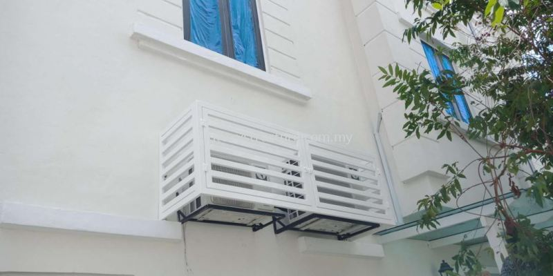 White Grille for Aircond Shelf @ 7-2-1 Jalan Setia Prima A Setia Alam