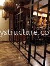 Custom Make Special Design Mild Steel Glass Door Grille Customise Design