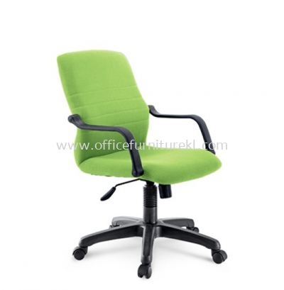 HOLA STANDARD LOW BACK FABRIC CHAIR C/W POLYPROPYLENE BASE