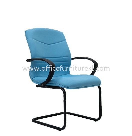ROBINIA STANDARD VISITOR LOW BACK FABRIC CHAIR C/W EPOXY BLACK CANTILEVER BASE
