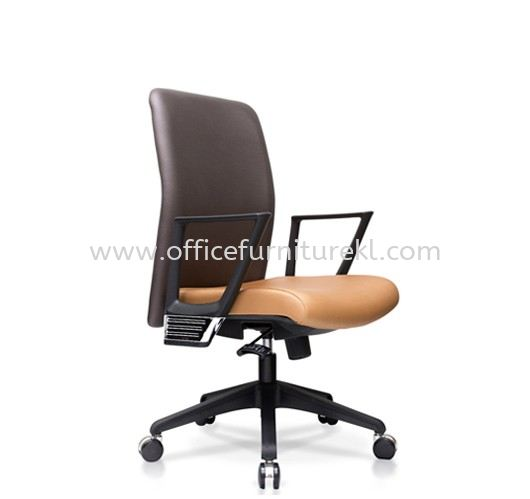 AMPLO EXECUTIVE MEDIUM BACK CHAIR C/W NYLON ROCKET BASE ACL 466(A)