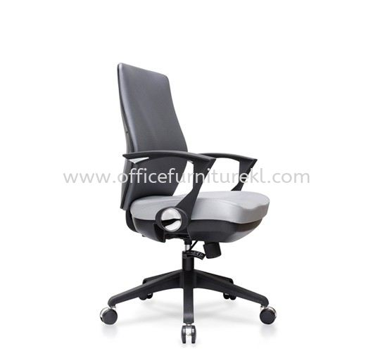 AMPLO EXECUTIVE MEDIUM BACK FABRIC CHAIR C/W NYLON ROCKET BASE ACL 488(B)