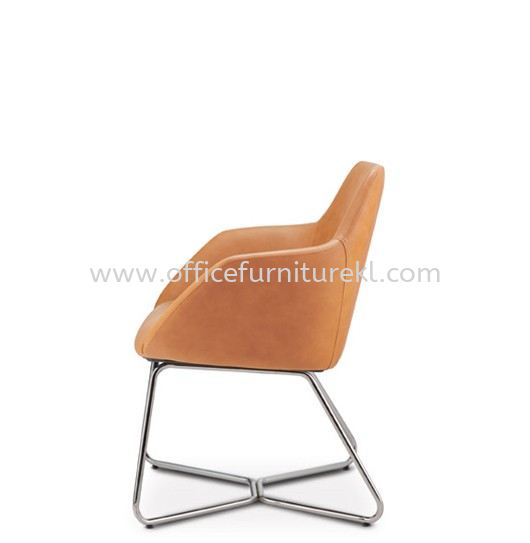 ANTHOM EXECUTIVE VISITOR LOW BACK LEATHER CHAIR C/W CHROME CANTILEVER BASE AT6612L-91C