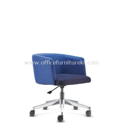 ANTHOM EXECUTIVE LOW BACK FABRIC CHAIR C/W ALUMINIUM BASE AT6632F-16