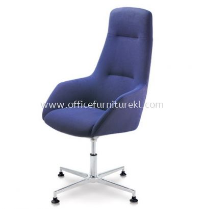 ANTHOM EXECUTIVE HIGH BACK FABRIC CHAIR C/W ALUMINIUM BASE WITH STUD AT6610F-15