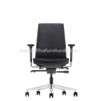 CLOVER EXECUTIVE LOW BACK LEATHER CHAIR WITH ALUMINIUM DIE-CAST BASE ACV 6112L