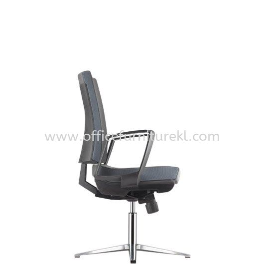 CLOVER EXECUTIVE VISITOR FABRIC CHAIR C/W ARMREST WITH ALUMINIUM BASE ACV 6113F
