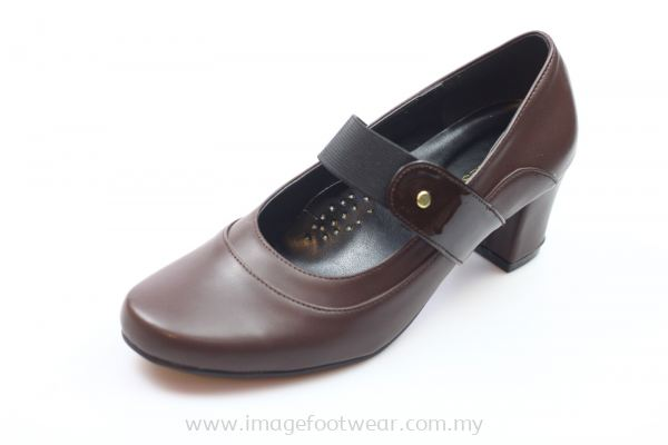 EXPRESS POLO Women 1 inch Heel Shoes- EP-2501 BROWN Colour
