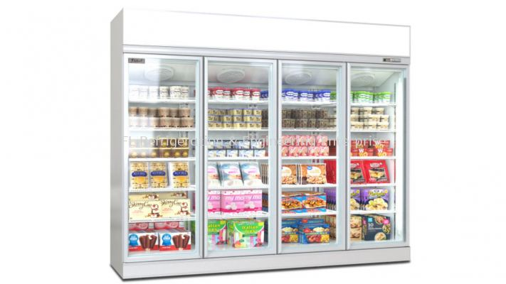 glass door display upright freezer