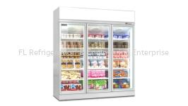 3 door display upright freezer