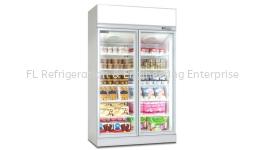 2 door display upright freezer