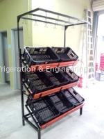 3 tier vegetable rack cw 8 basket cw banana stand