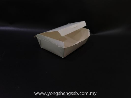 PAPER LUNCH BOX (WHITE-S) (400PCS/BAG)