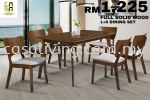 DINING SET 1+6 WOODEN TOP DINING SET DINING SET