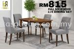 DINING SET 1+4 WOODEN TOP DINING SET DINING SET