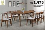 DINING SET 1+8 WOODEN TOP DINING SET DINING SET