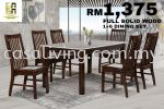 DINING SET 1+6 MARBLE TOP DINING SET DINING SET