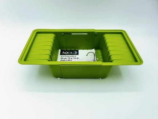 Aqua Pura Extendable Over-The-Sink Colander