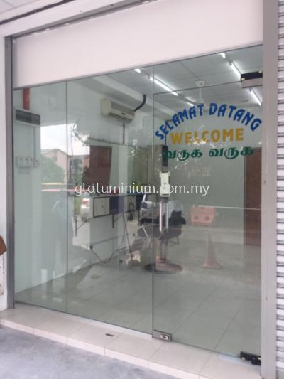 12mm tempered shopfront @jalan Air Jerneh Off jalan Genting Kelang. Setapak
