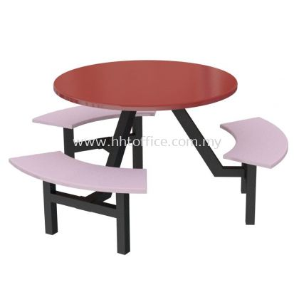C3 - 6 Seater Curve Bench Food Court-Set