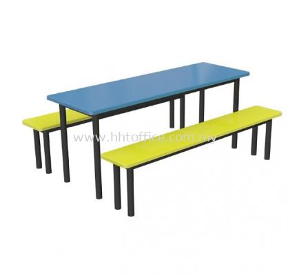 D1 - 6 Seater Bench Food Court-Set