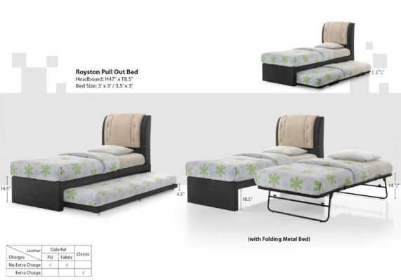 BED POB -ROYSTON Pull Out Bed