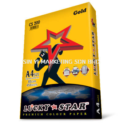 LUCKY STAR A4 80G C/S GOLD 450'S