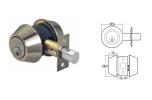 Hafele SUS304 DeadBolt Double Key 489.10.520 Deadbolt Mechanical Locks