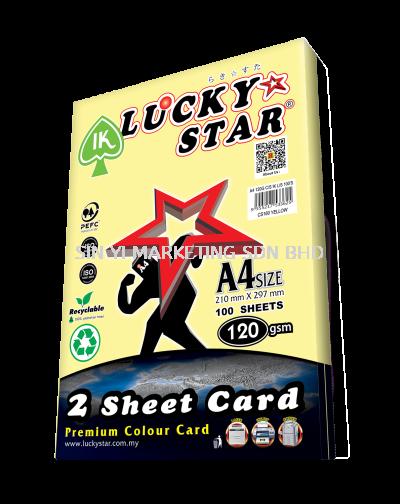 IK LUCKY STAR 2 SHEET CARD 120G 100'S (YELLOW)