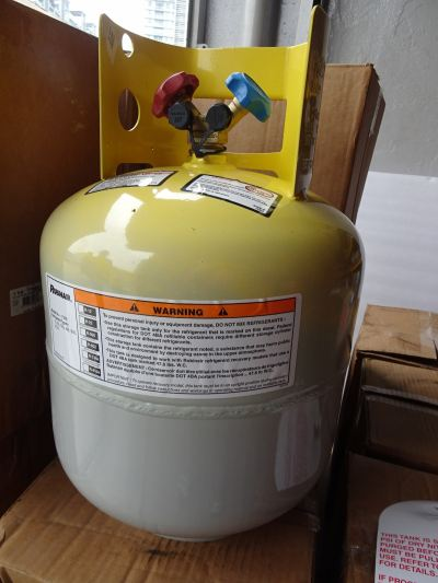 MANCHESTER (ROBINAIR) DOT 4BA400 50LBS (400PSI) REFRIGERANT RECOVERY CYLD W/O 80% FLOAT (P/N:17506)