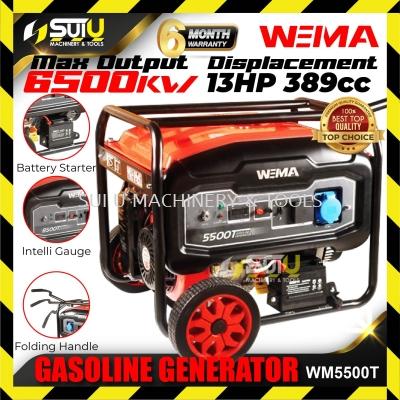 WEIMA WM550T Portable Petrol Generator 5000W 13HP 4-STROKE PORTABLE GASOLINE GENERATOR