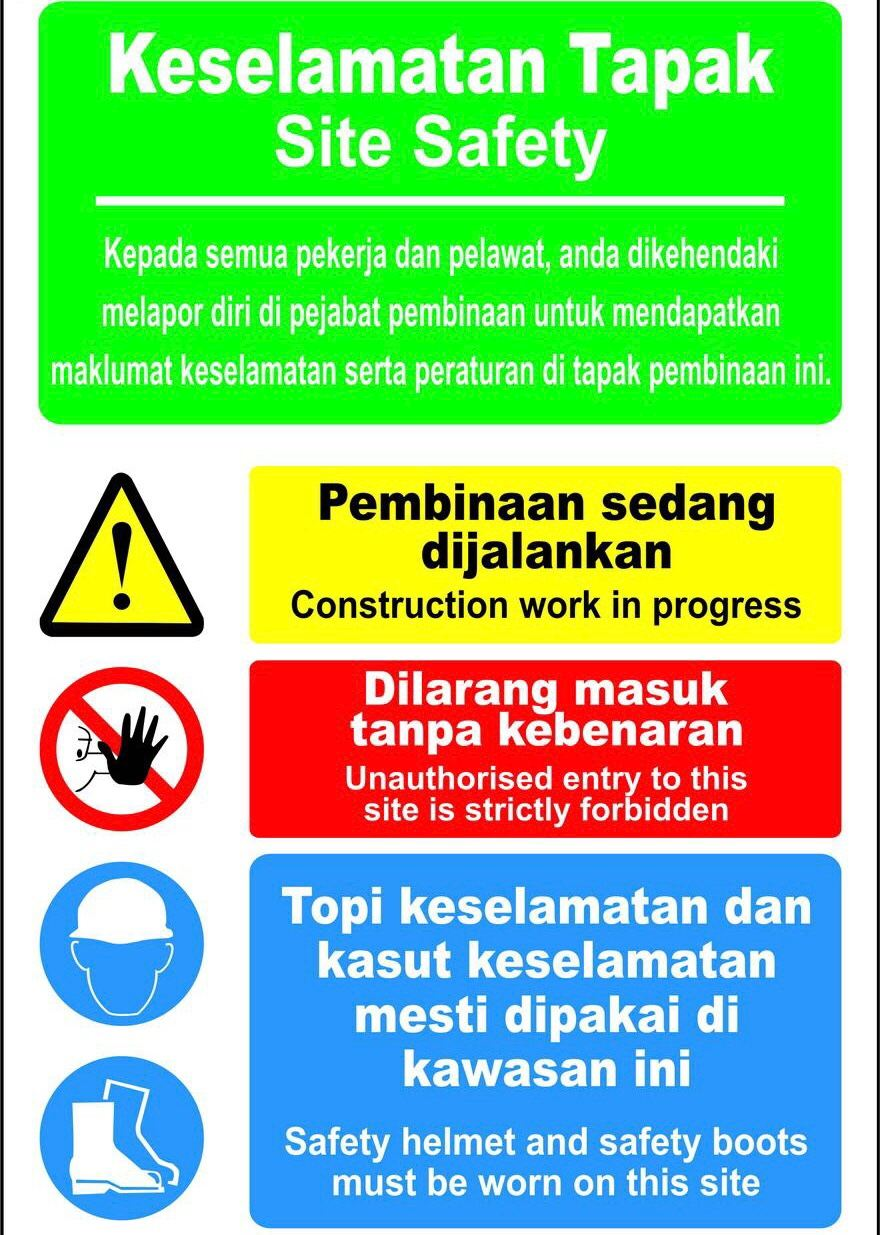 Sticker UV Safety , Sticker Keselamatan.