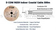 D COM RG59 Indoor Coaxial Cable 300m Accessories - CCTV