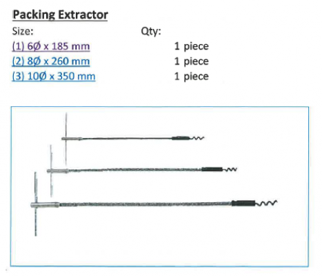 Packing Extractor T Type