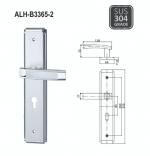 ALH-B3365-2 LEVEL HANDLE WITH PLATE