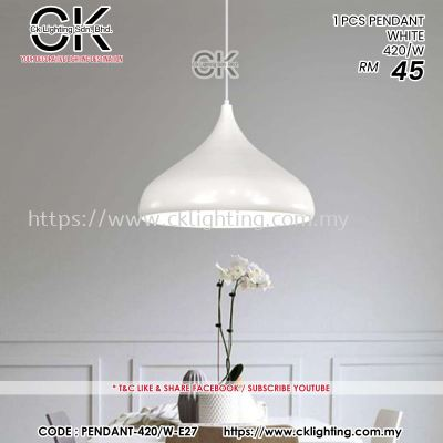 CK LIGHTING 1 PCS PENDNAT WHITE 420/W (PENDANT 420/W)