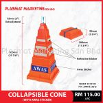 Collapsible Cone With AWAS Sticker