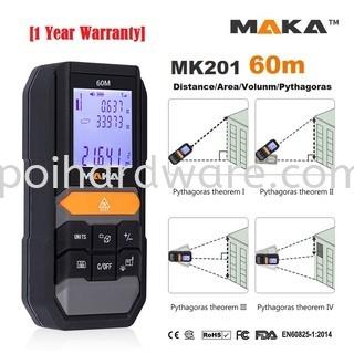 MAKA MK201 Laser Distance Measuring Tool Measuring Tools Hand Tools