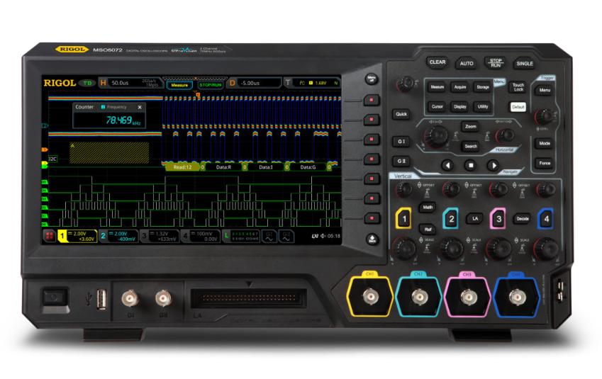 RIGOL MSO5072 Two Channel, 70MHz Digital/Mixed Signal Oscilloscope