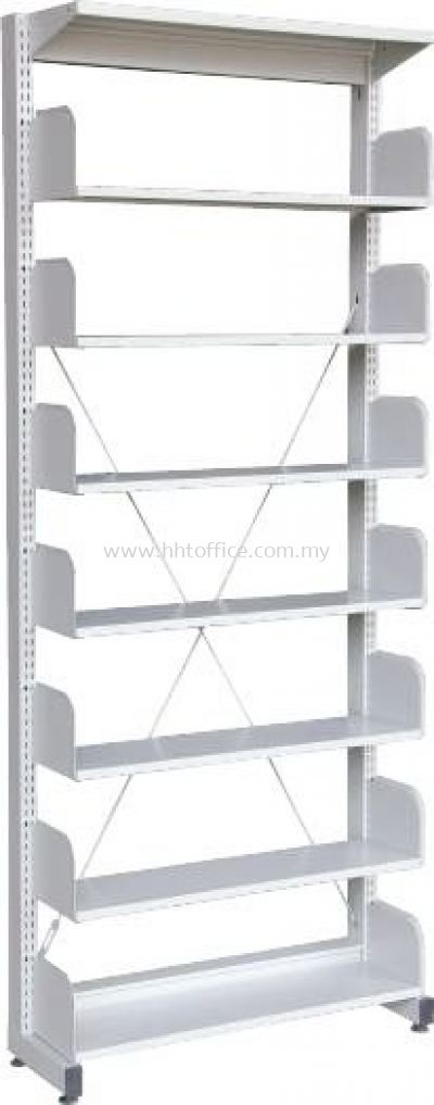 S317W - 7 Level Single Sided Library Rack