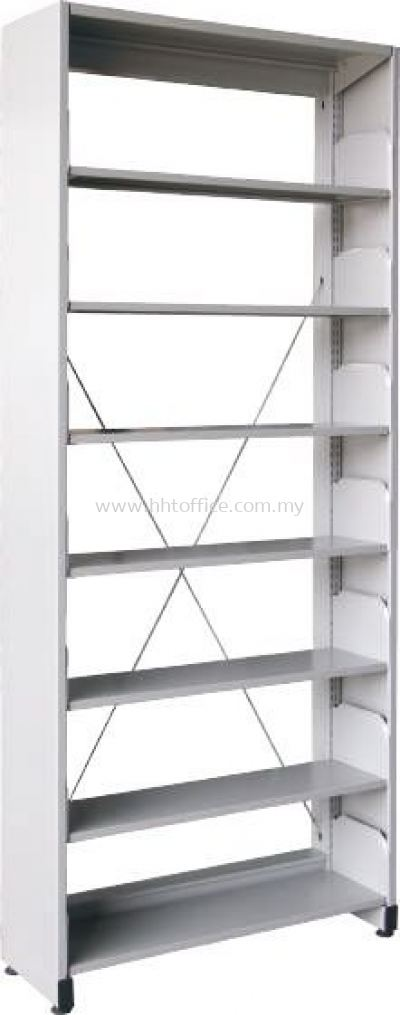 S317 - 7 Level Single Sided Library Rack