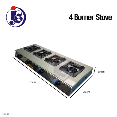 Square 4 Burner Stove