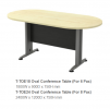 TOE18 Oval Conference Table (For 6 Pax) T2 Series Office Furniture Office Eqiupment