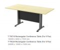TVE18 Rectangular Conference Table (For 6 Pax) T2 Series Office Furniture Office Eqiupment